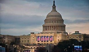 Inauguration morning US capitol